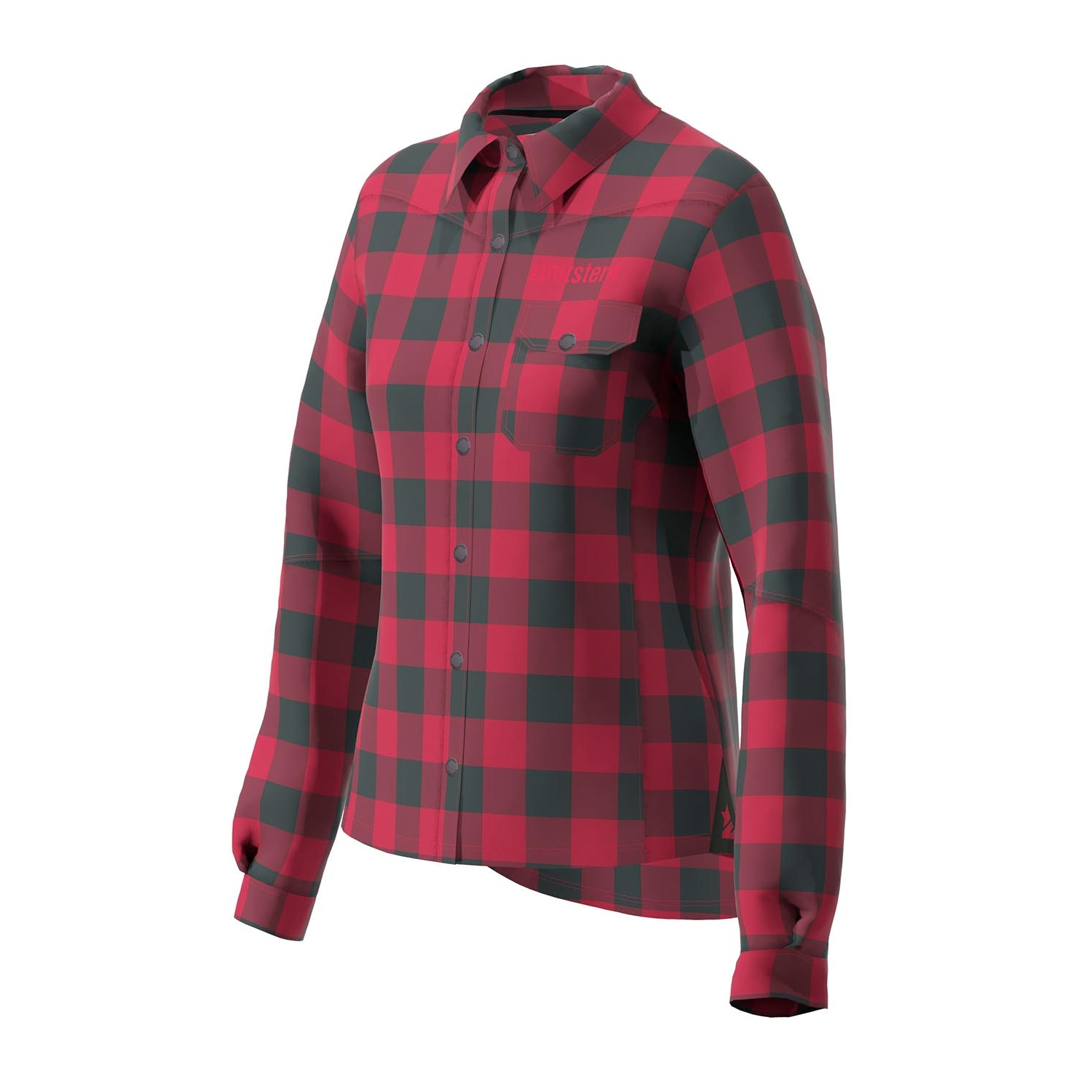Image of Zimtstern Timbaz Flannel Shirt Women - jester red/pirate black