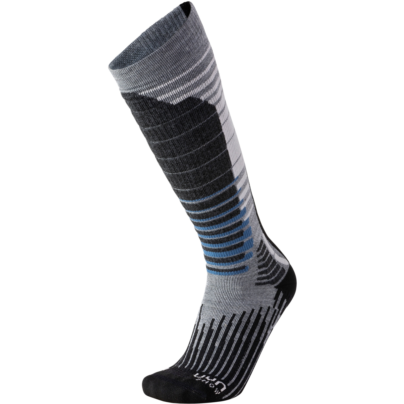UYN Ski Man Snowboard Socks - Light Grey/Black