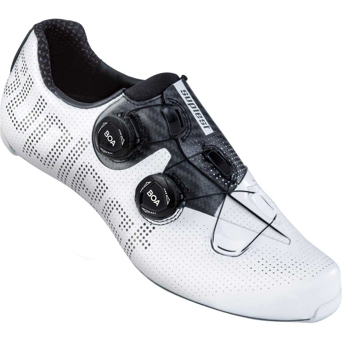 Suplest EDGE+ Double BOA IP1 Road Pro Shoe - White / Black 01.062.
