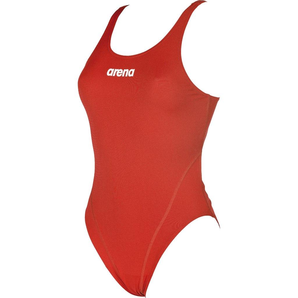 Produktbild von arena Solid Swim Tech High Damen Badeanzug - red/white
