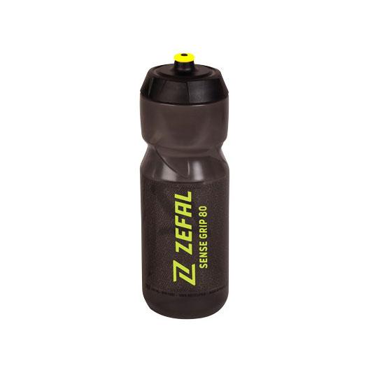 Zéfal Sense Grip 80 Trinkflasche 800ml - smoked black/yellow