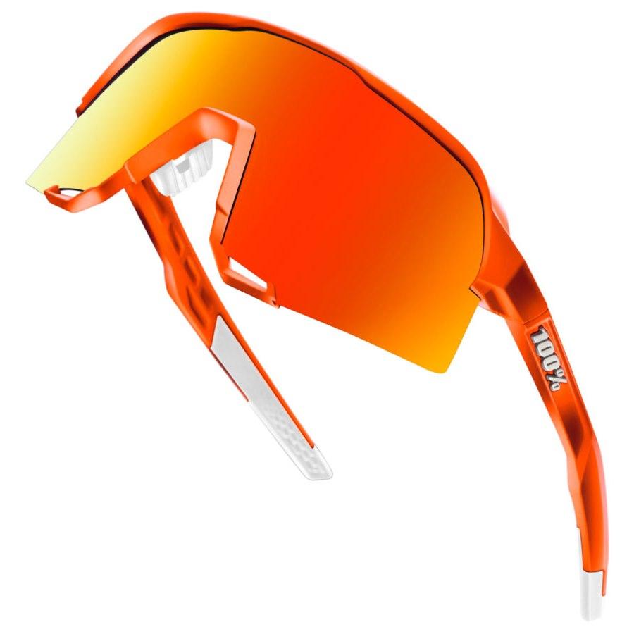 Imagen de 100% S3 HiPER Multilayer Mirror Lens Glasses - Limited Editon Neon Orange