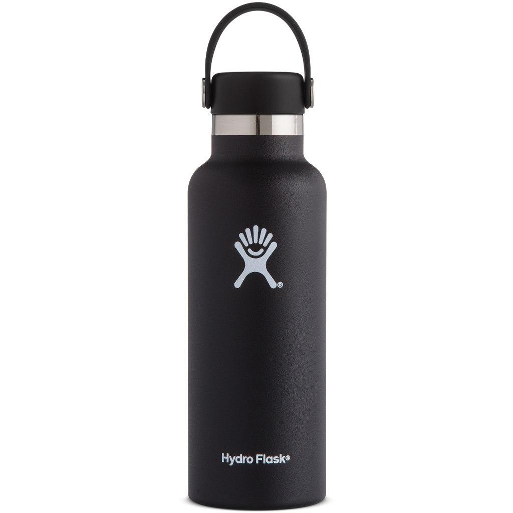 Produktbild von Hydro Flask 18 oz Standard Mouth Flex Cap Thermoflasche 532ml - Black