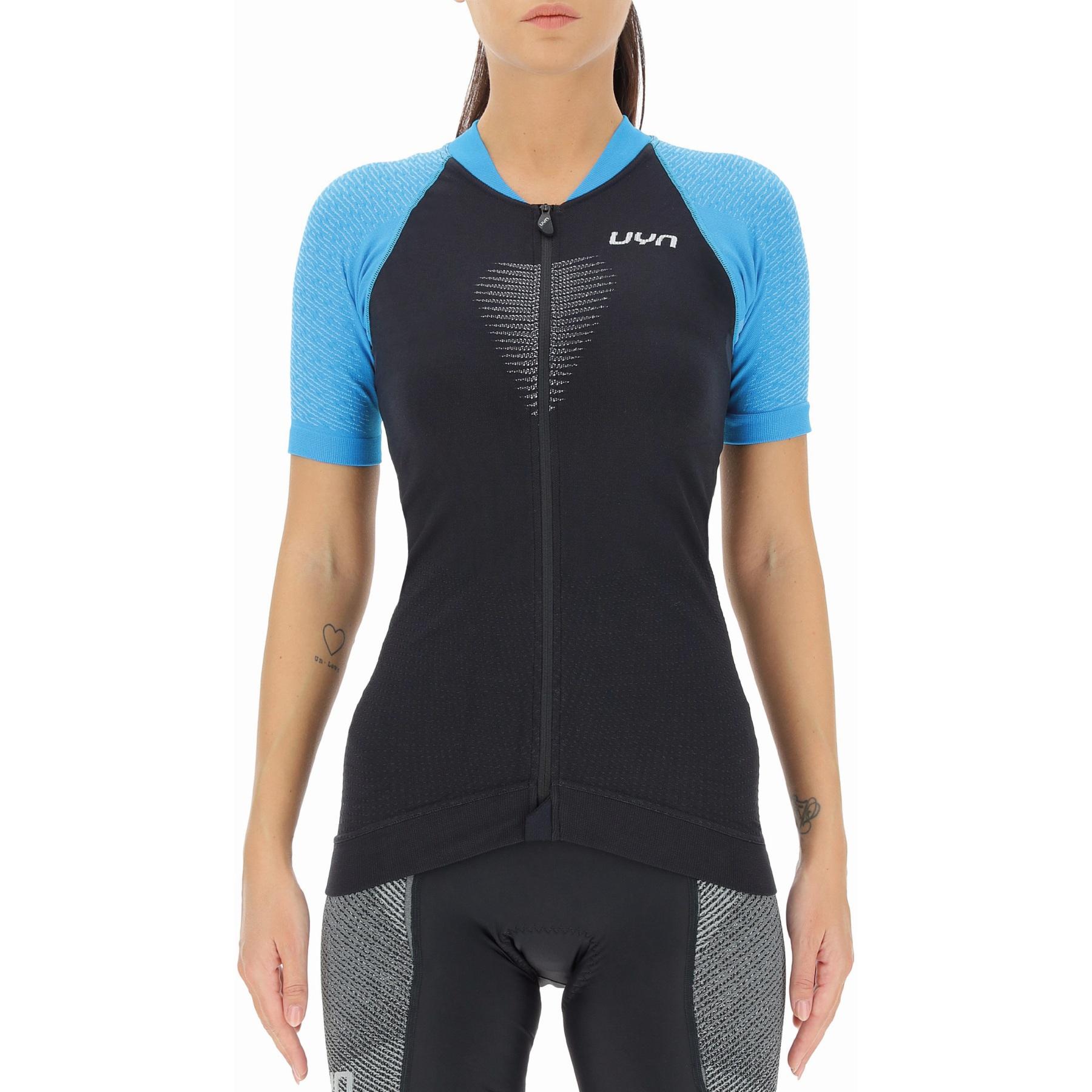 UYN Biking Granfondo T-Shirt Damen - Blackboard/Danube Blue