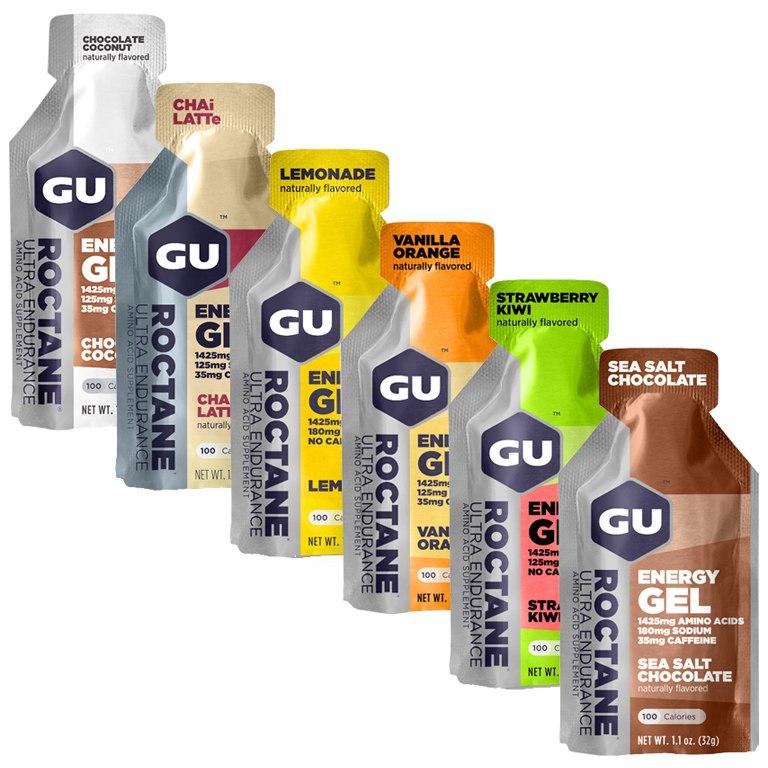 GU Roctane Energy Gel Test Bundle - 6x32g