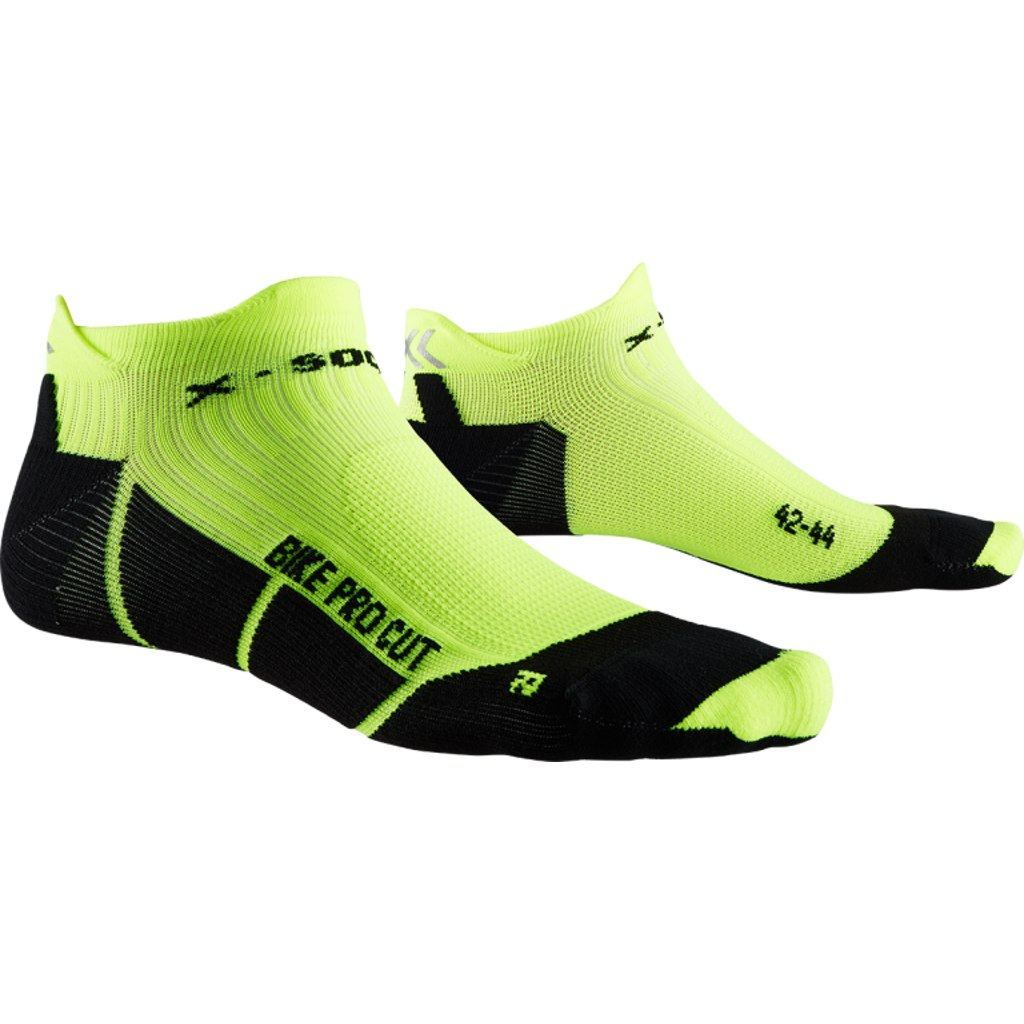 X-Socks Bike Pro Cut Socken - opal black/phyton yellow