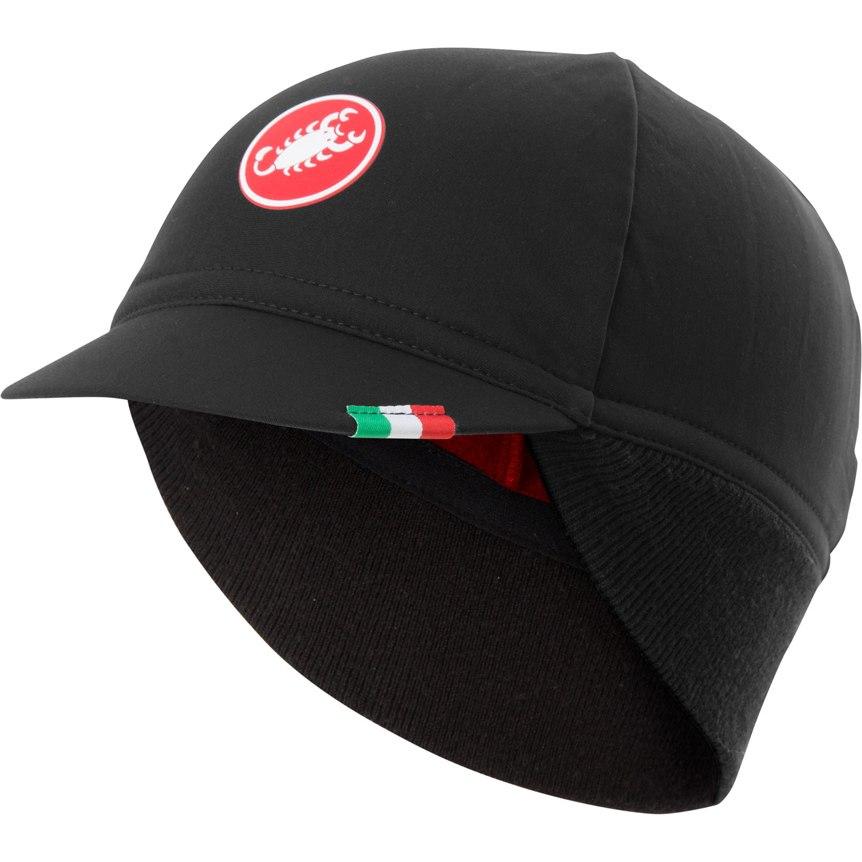 Castelli Difesa Thermal Cap - black/red 010