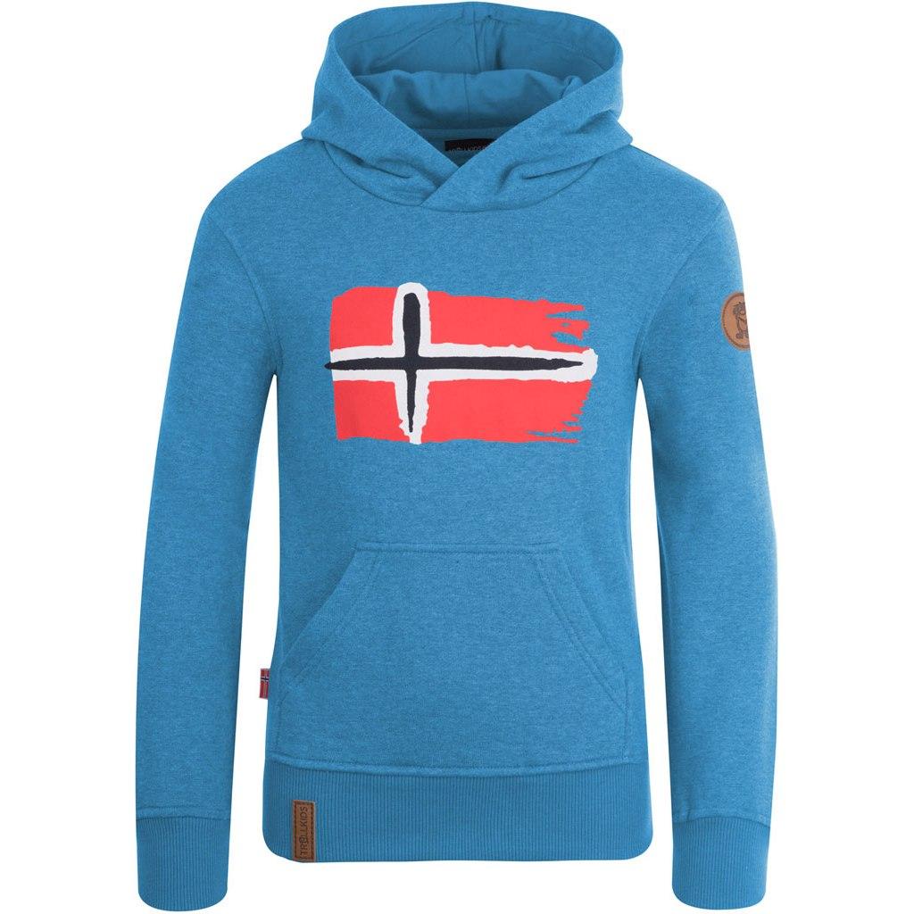 Trollkids Trondheim Hooded Sweater Kids - Medium Blue
