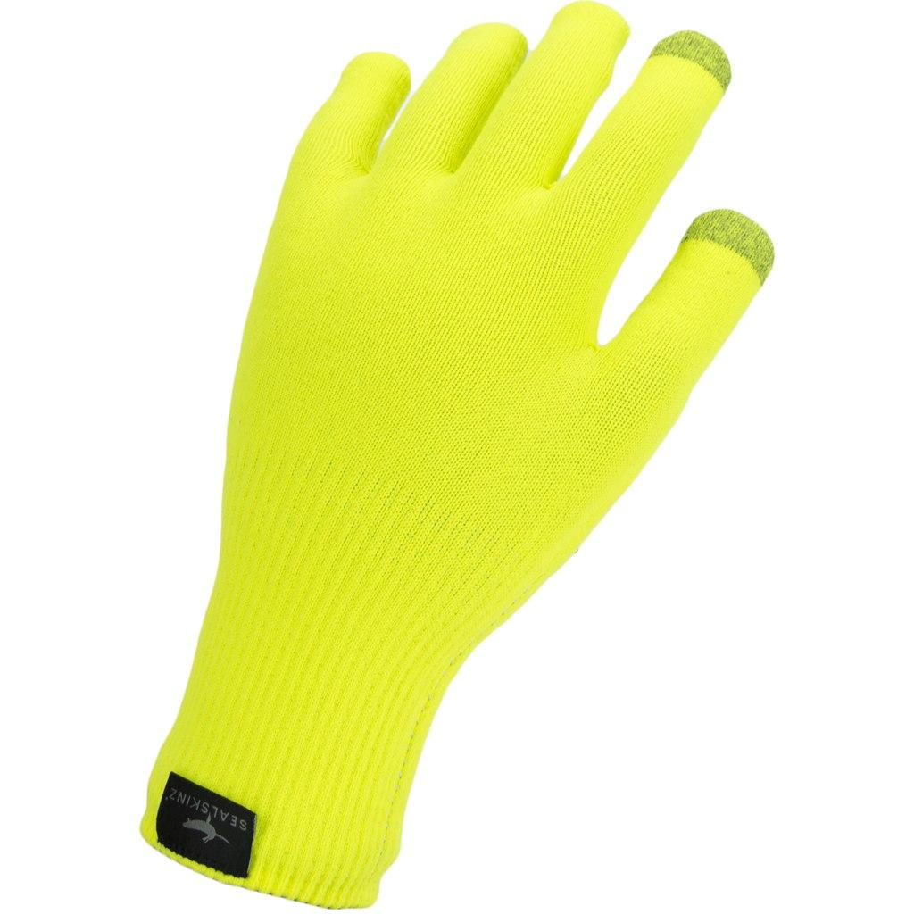 Foto de SealSkinz Waterproof All Weather Ultra Grip Knitted Guantes - Neon Yellow