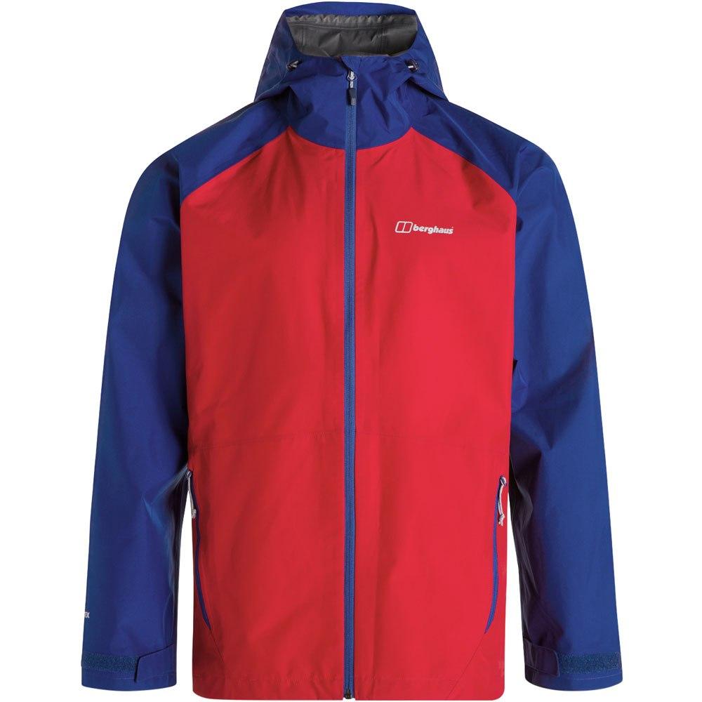 Berghaus Men's Paclite 2.0 Waterproof Jacket - Haute Red/Sodalite Blue CU4