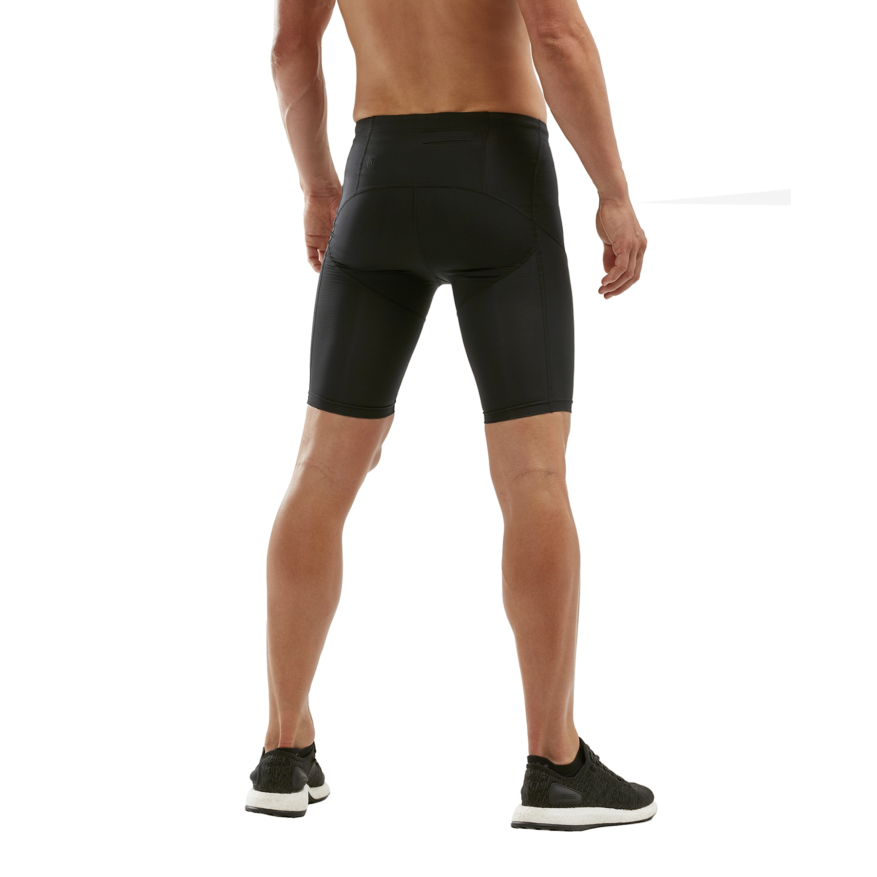 Imagen de 2XU Run Dash Compression Shorts - black/denim reflective