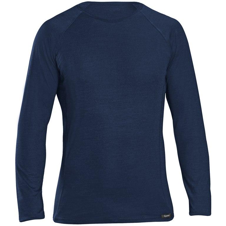 GripGrab Merino Polyfibre Long Sleeve Base Layer - Navy Blue