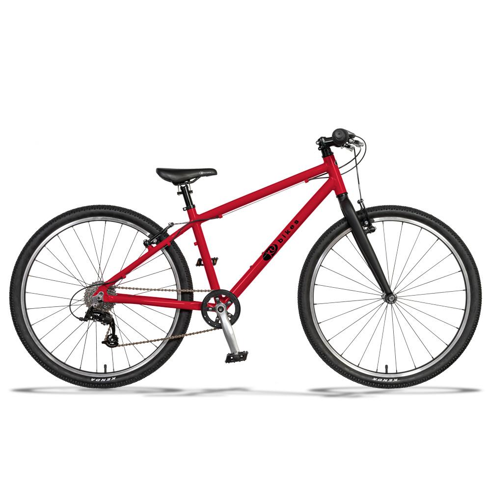 KUbikes 26 MTB 8-Speed Kids Bike - red