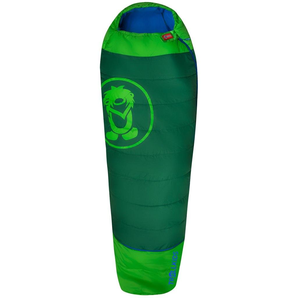 Trollkids Fjell Dreamer Kids Extendable Sleeping Bag - Dark Green/Green/Medium Blue