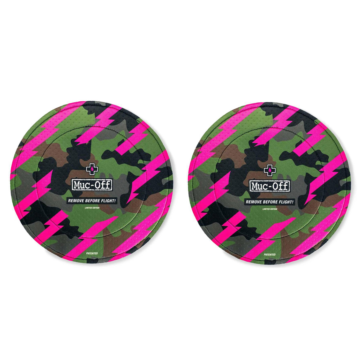 Foto de Muc-Off Disc Brake Cover Cubierta de Disco de Freno (1 Par) - camo