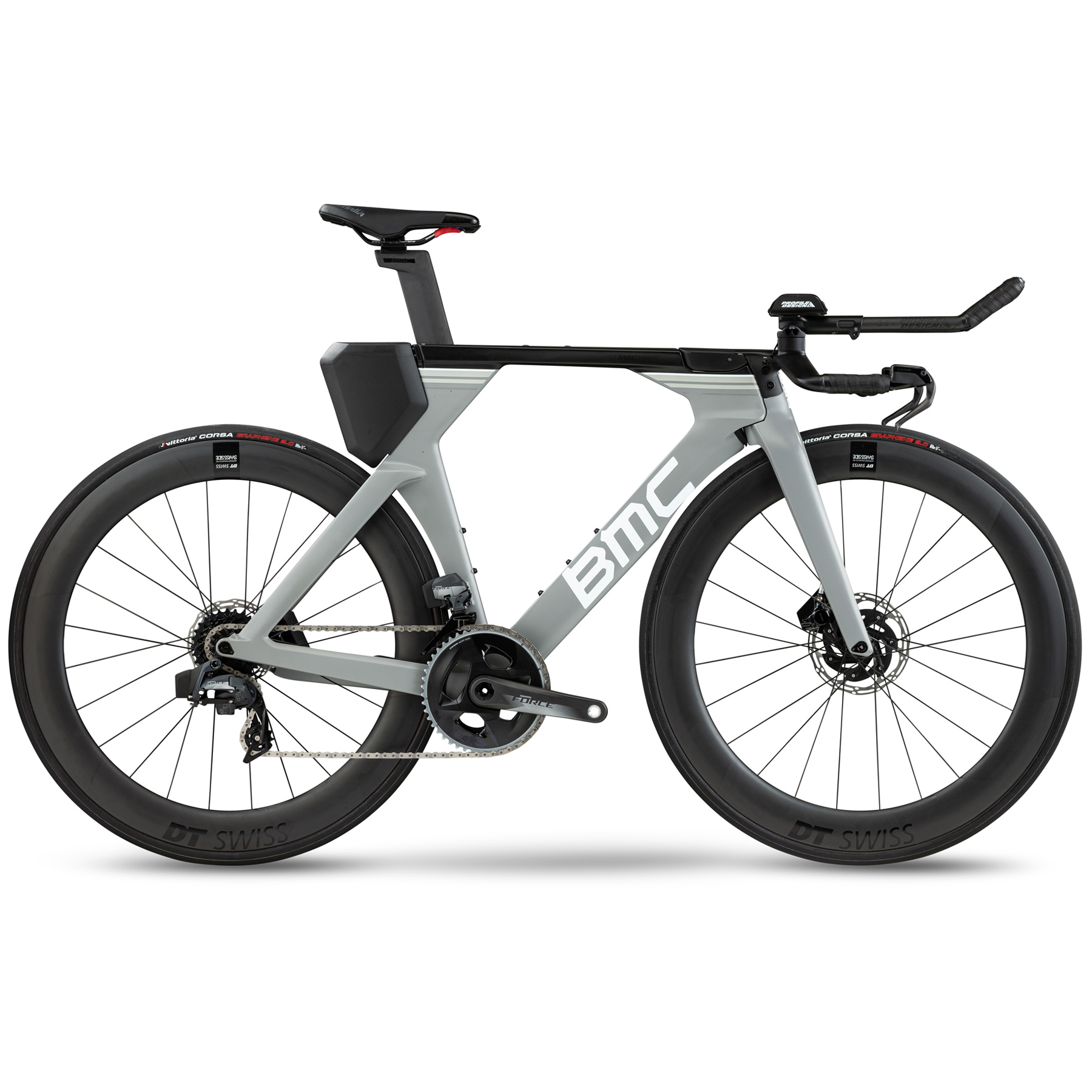 BMC TIMEMACHINE 01 DISC ONE - Force eTap AXS - Carbon Triathlonrad - 2021 - airforce grey & white