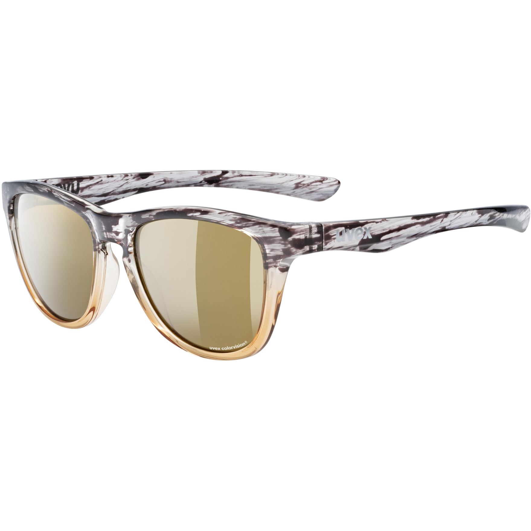Uvex lgl 48 CV Glasses - flecked amber/colorvision mirror champagne