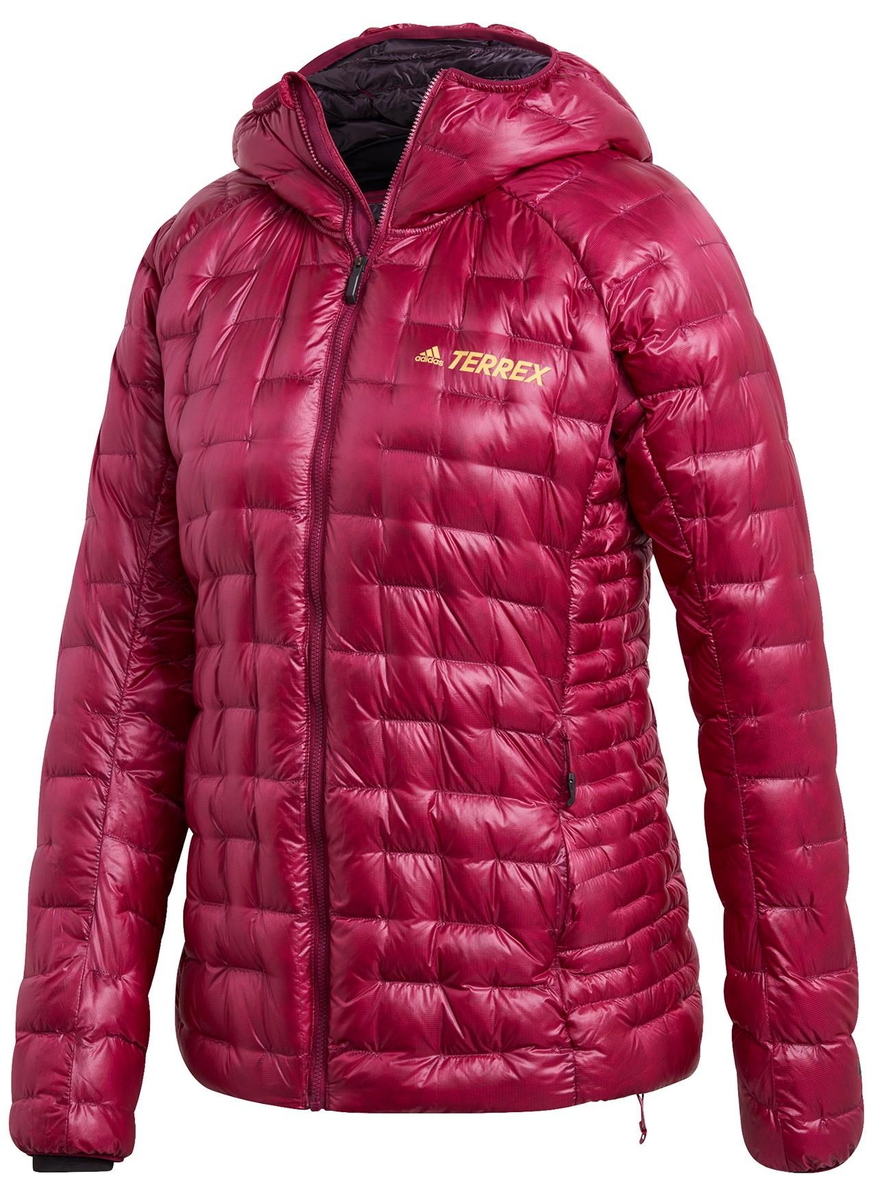 adidas Frauen TERREX Icesky Hooded Daunenjacke - power berry FT6089