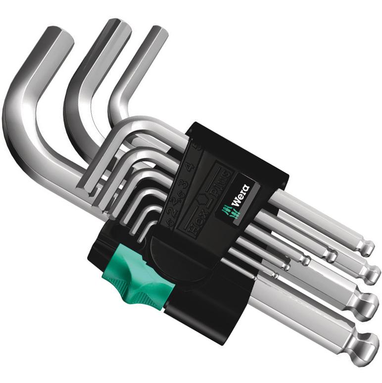 Wera 950/9 Hex-Plus 3 - Winkelschlüsselsatz Innensechskant