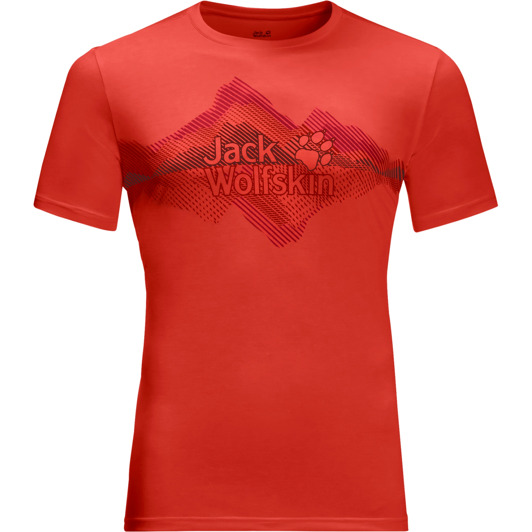 Jack Wolfskin Crosstrail Graphic T-Shirt - lava red