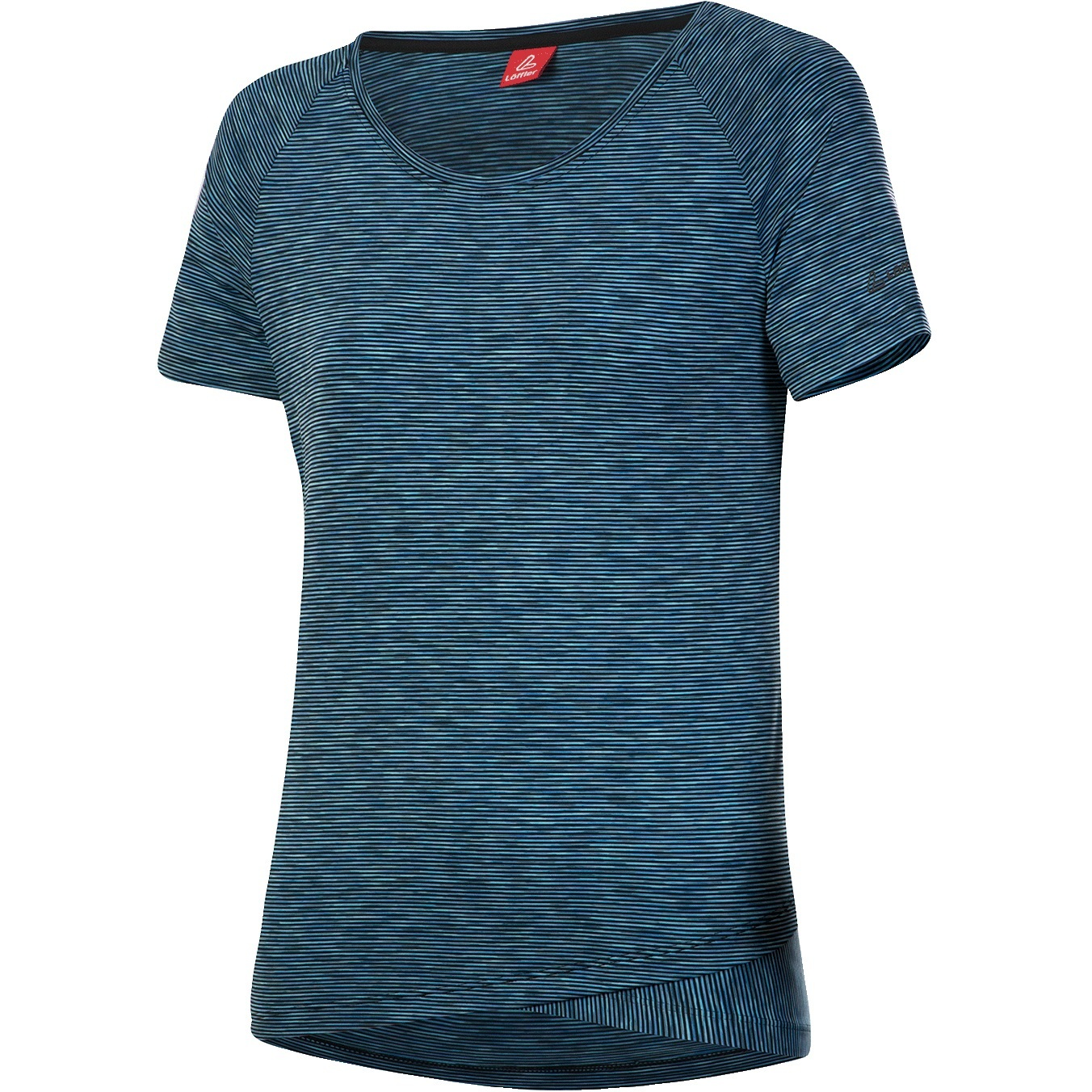 Löffler Bike T-Shirt Raingle Damen 24692 - blue lake rainbow 726