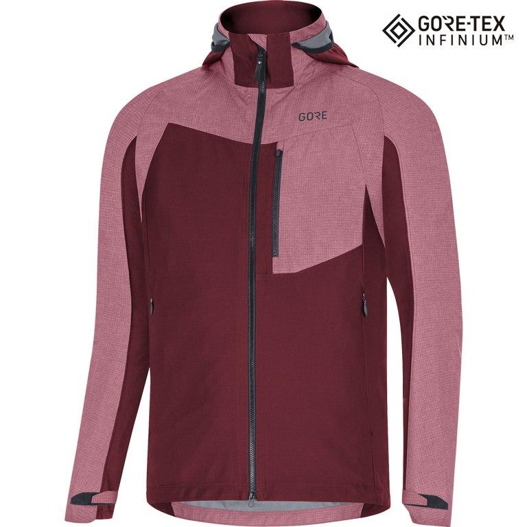 GORE Wear C5 GORE-TEX INFINIUM™ Hybrid Hooded Jacket - chestnut red AJ00