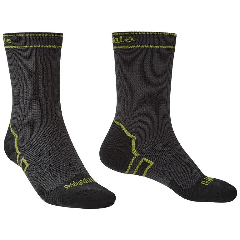 Bridgedale Stormsock Lightweight Boot Socks - dark grey/lime