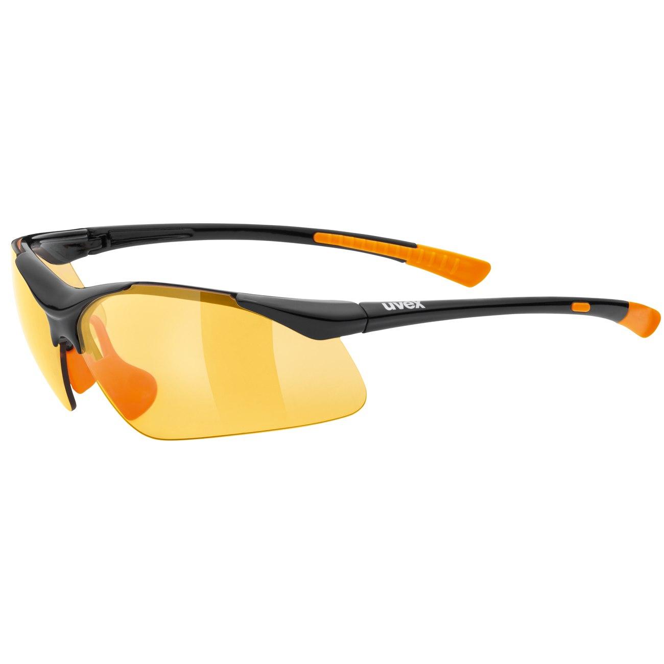 Uvex sportstyle 223 - black orange/litemirror orange Brille