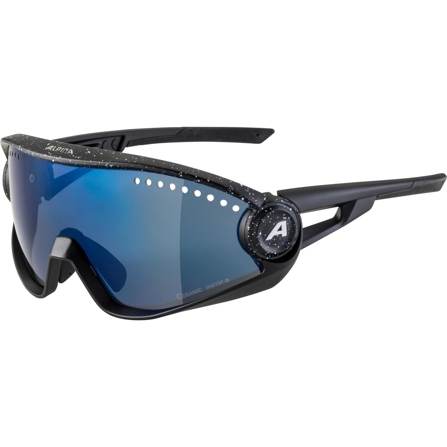 Alpina 5W1NG CM+ Glasses - black blur / blue mirror