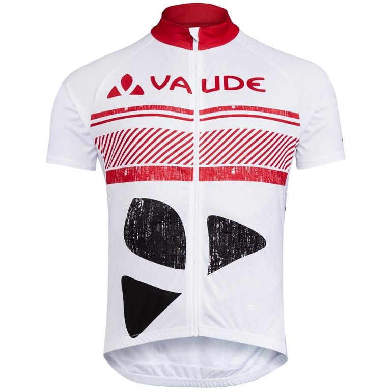 Vaude Brand Radtrikot Kurzarm - weiß