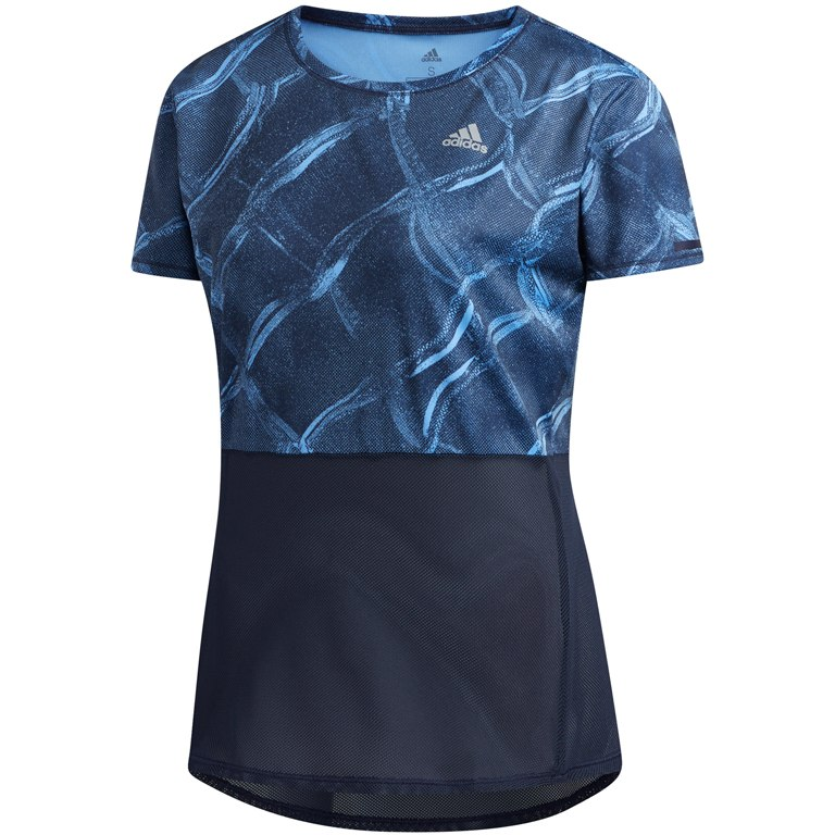 Image of adidas Women's Own the Run Fences Tee - real blue/legend ink DZ2316