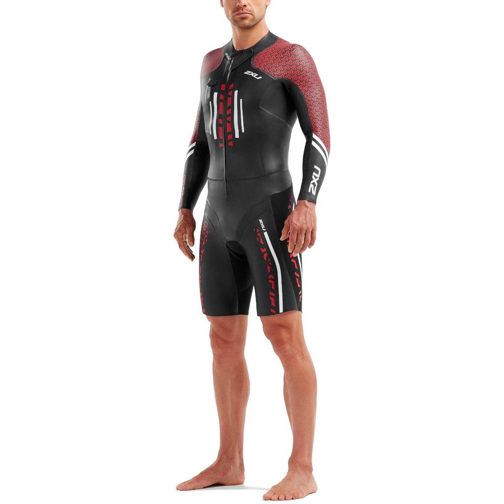Imagen de 2XU SR:Pro Swimrun Pro Wetsuit - black/flame scarlet