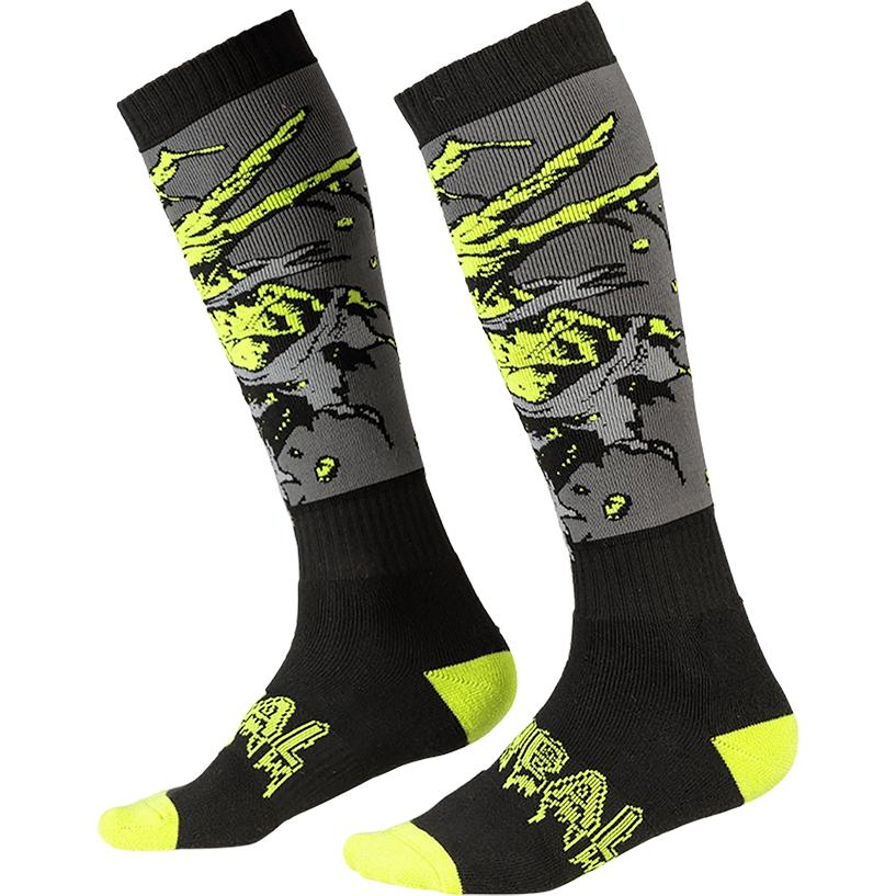 O'Neal Pro MX Sock - ZOMBIE black/green