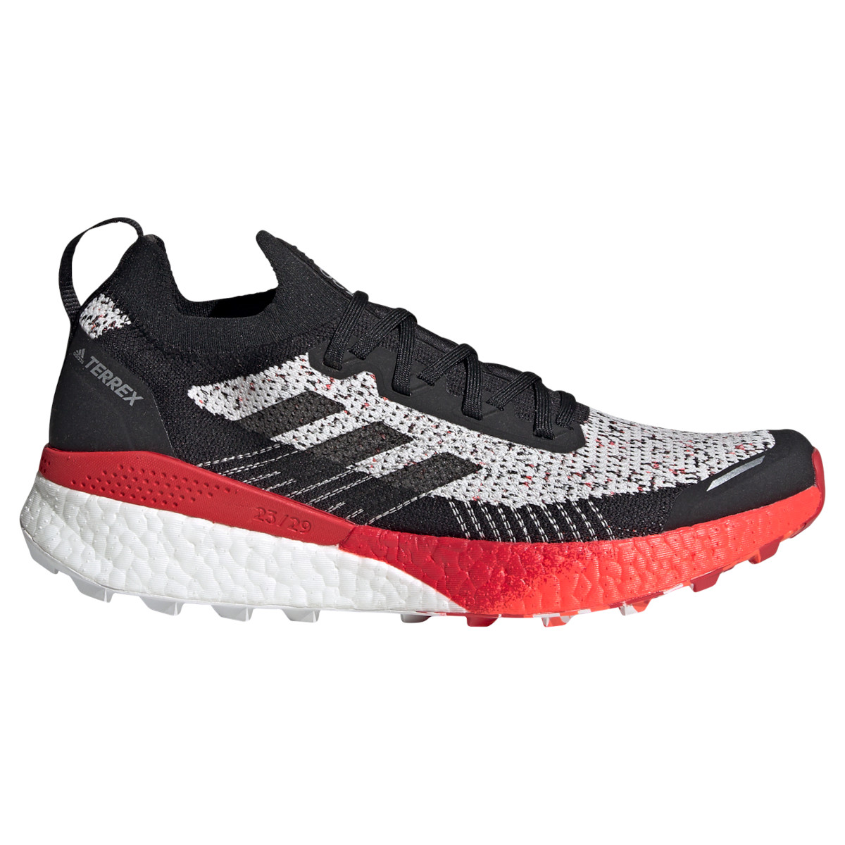 adidas Men's TERREX Two Ultra Parley Trail Running Shoes - crystal white/core black/scarlet FV7194