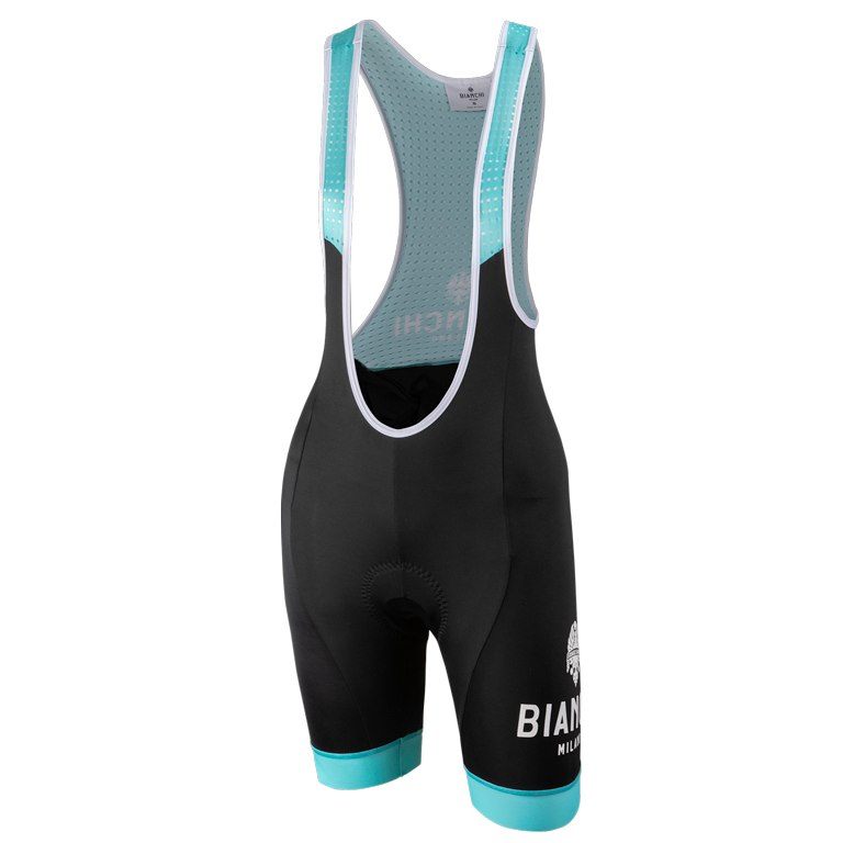 Nalini Bianchi Milano E19AIS Nocito Women's Bib Shorts - black/celeste 4300