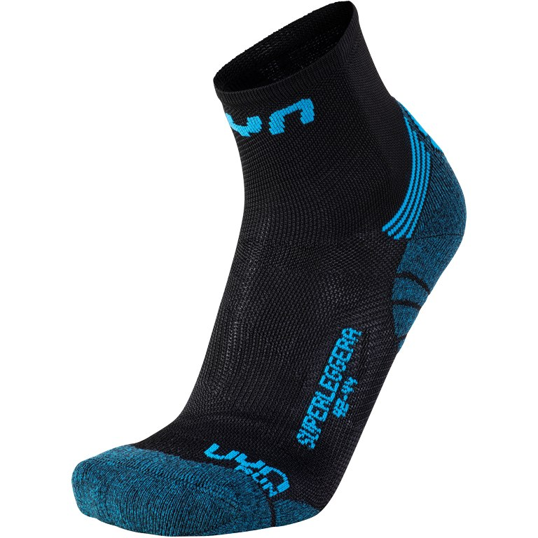 UYN Run Superleggera Socken - Black/Indigo