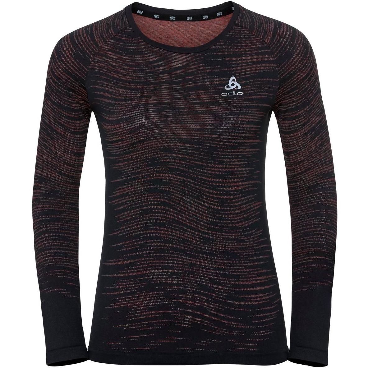 Produktbild von Odlo Damen BLACKCOMB CERAMICOOL Langarmshirt 313391 - 60223 black - space dye