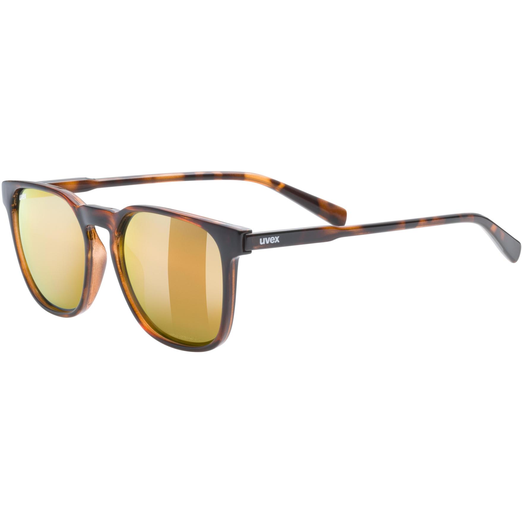 Image of Uvex lgl 49 P Glasses - havanna/polavision mirror gold