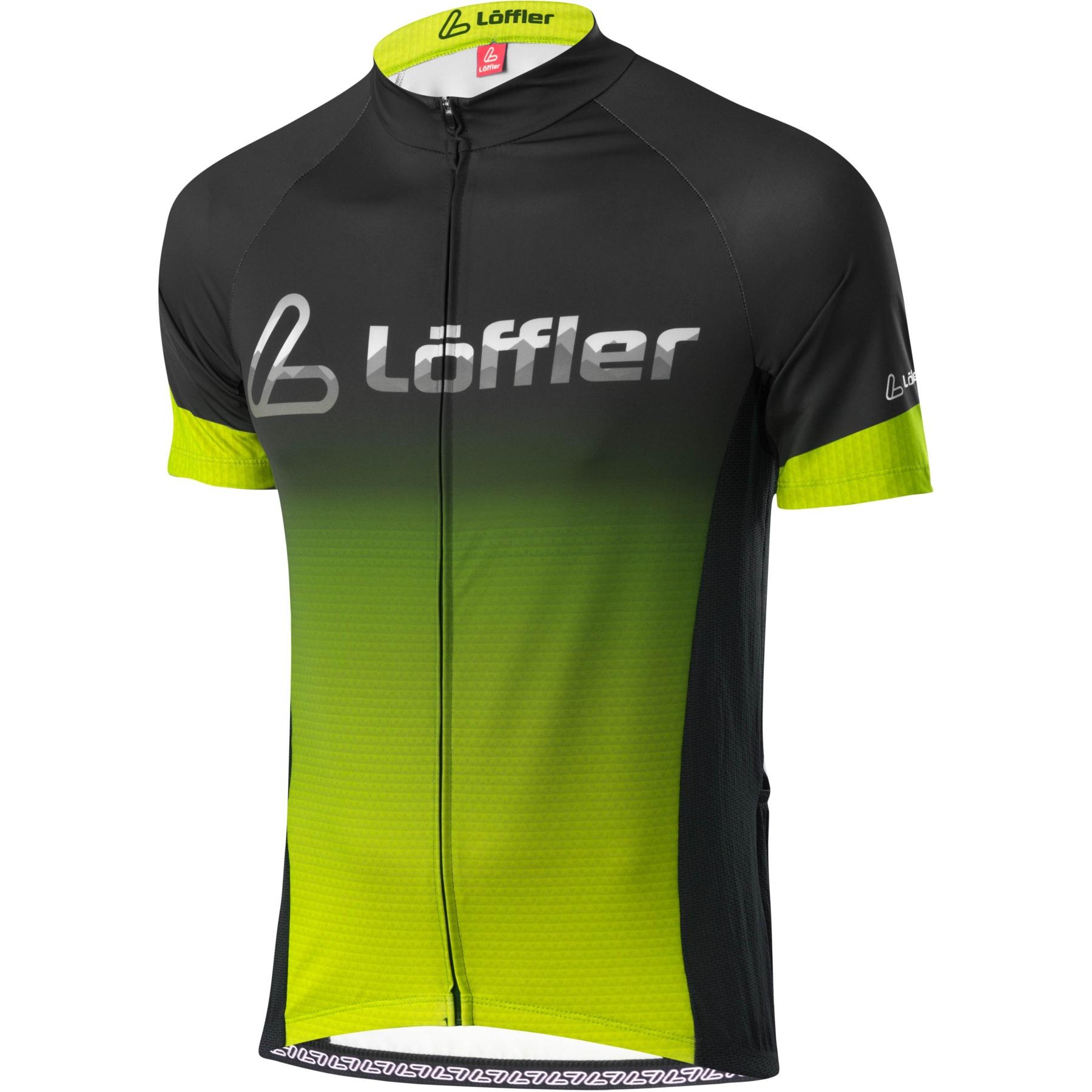 Löffler Bike Trikot FZ Messenger Mid 24602 - black/light green 993