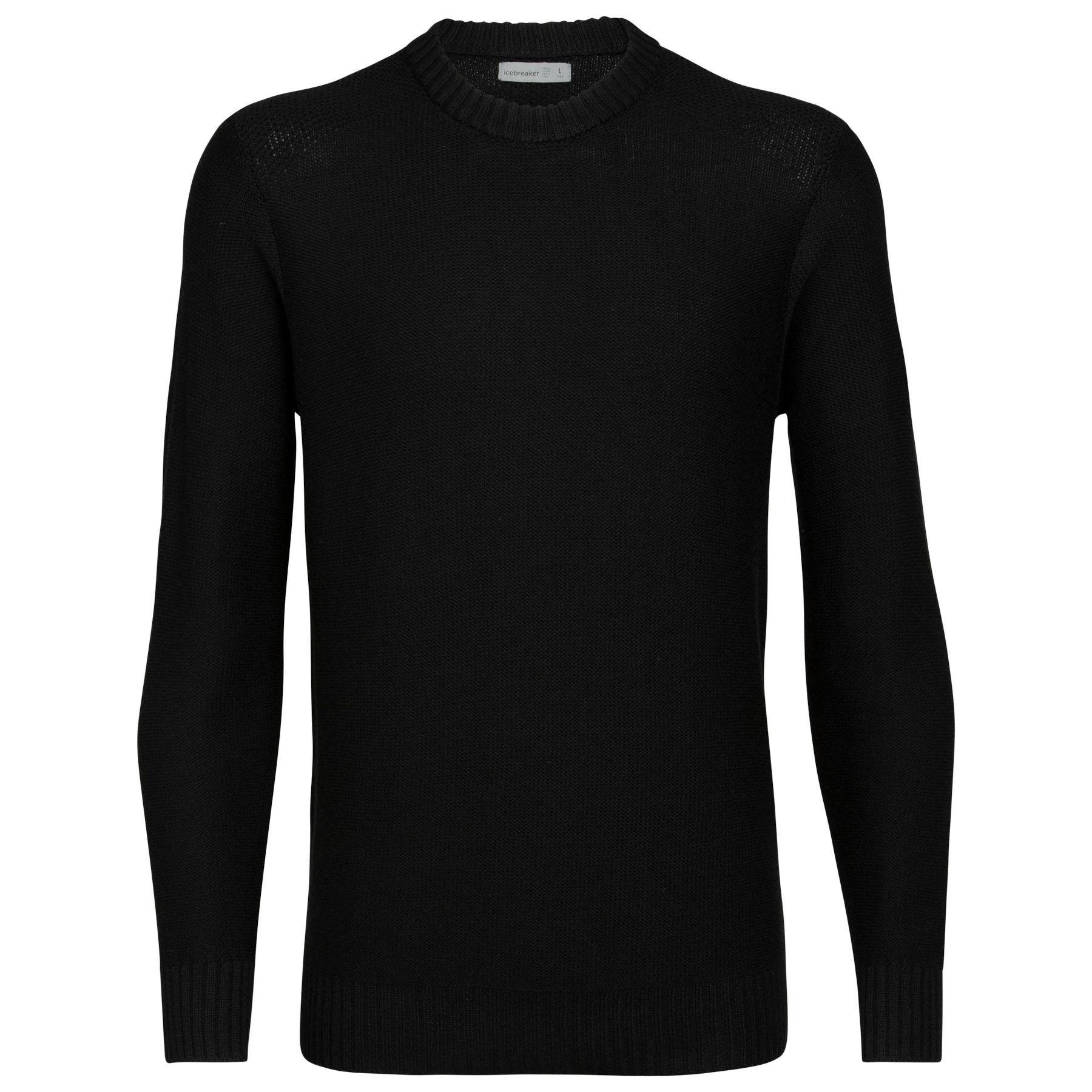 Produktbild von Icebreaker Waypoint Crewe Herren Pullover - Black