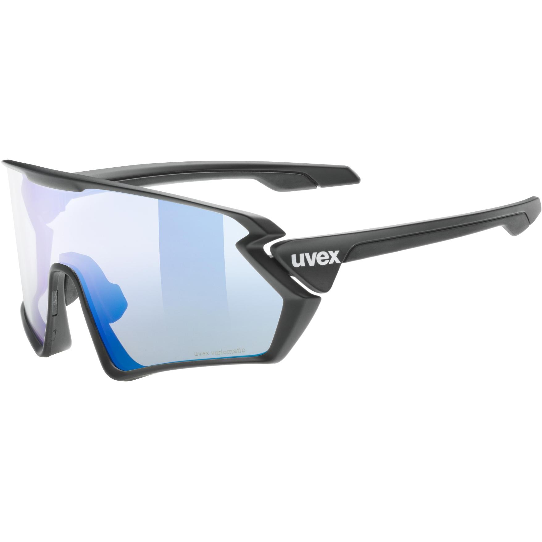 Uvex sportstyle 231 V variomatic Brille - black mat/variomatic litemirror blue + clear