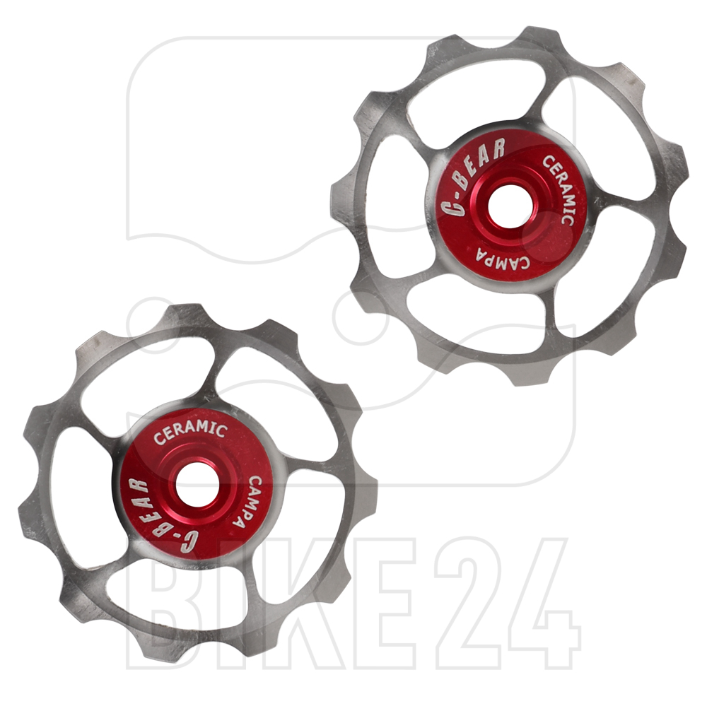 C-Bear Ceramic Bearings Titanium Pulley Wheels for Campagnolo 11-speed