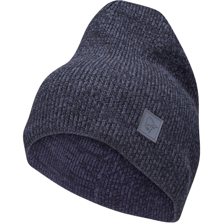 Norrona /29 thin marl knit Beanie - Cool Black
