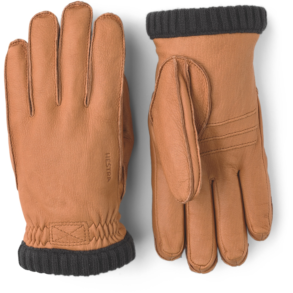 Picture of Hestra Deerskin Primaloft Rib Leather Gloves - cork
