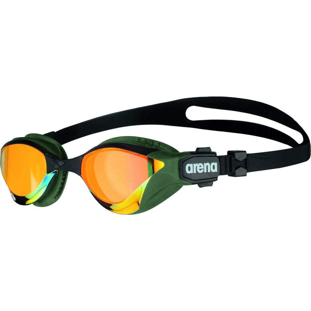 arena Cobra Tri Swipe Mirror Yellow Copper/Army Swimming Goggle