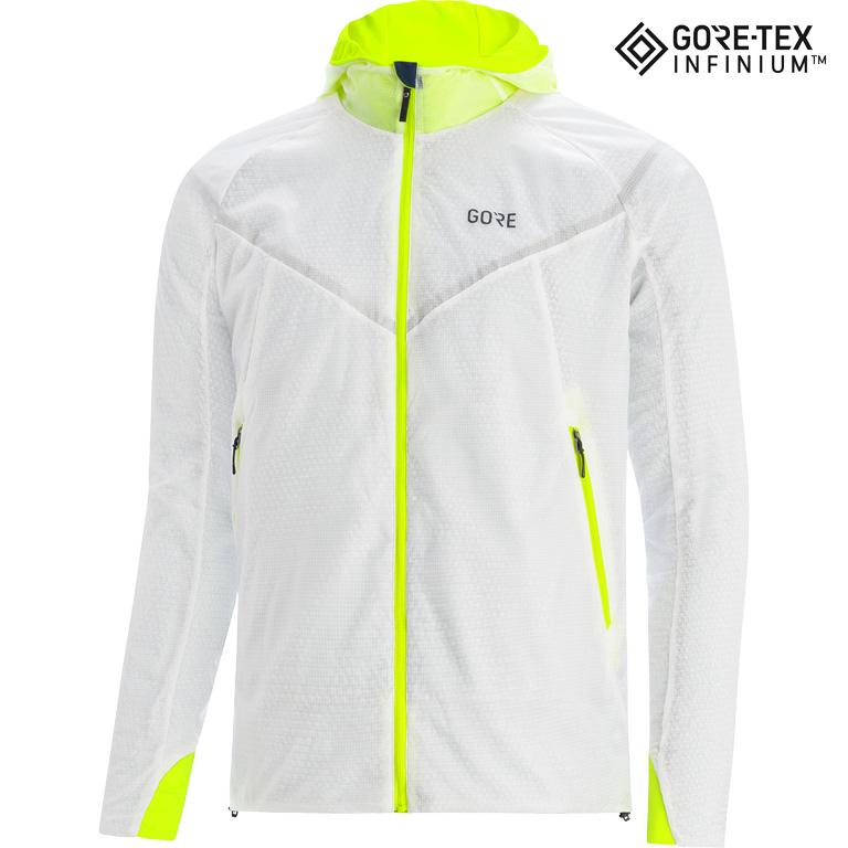 GORE Wear R5 GORE-TEX INFINIUM™ Chaqueta acolchada - white/neon yellow 0108