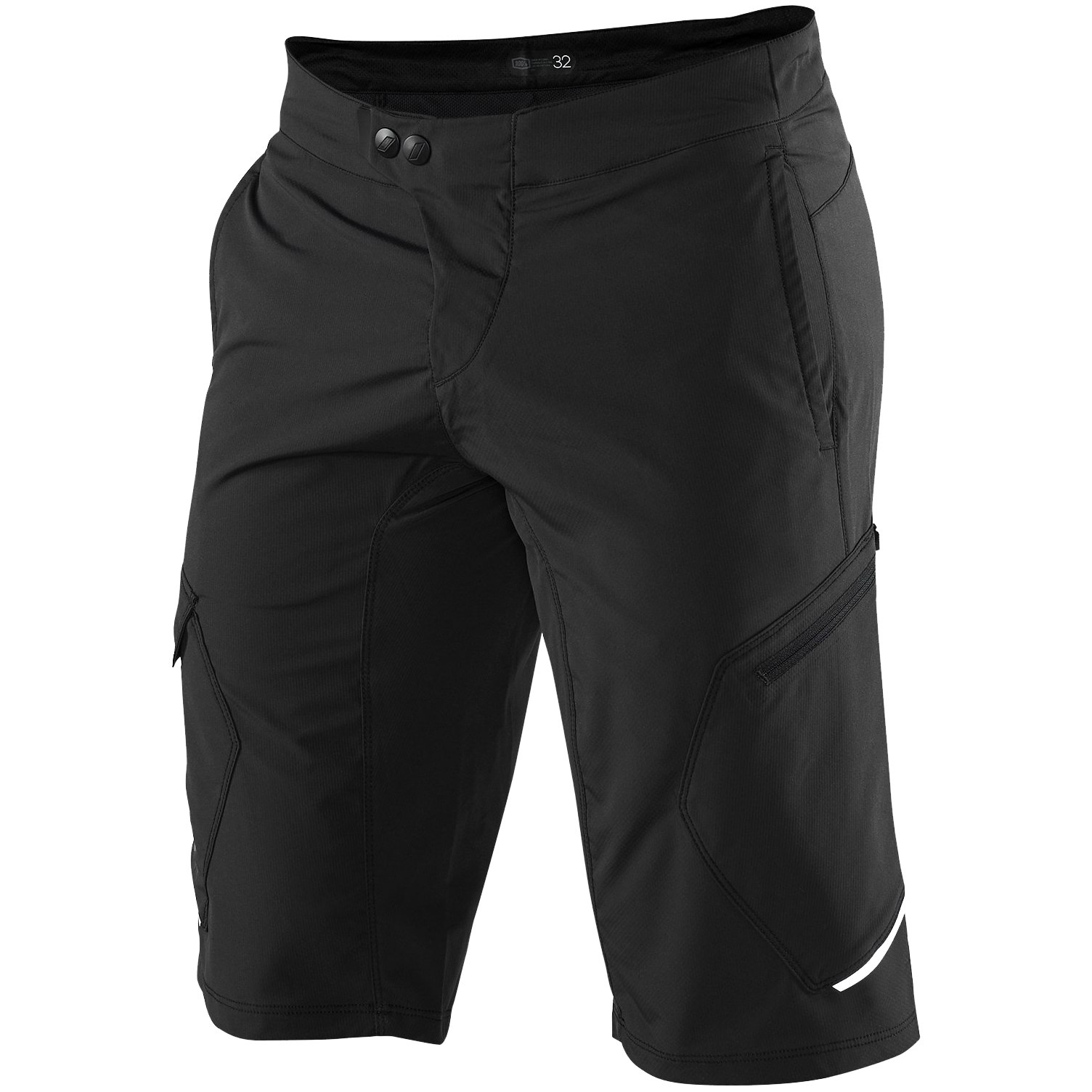 100% Ridecamp Shorts - Black