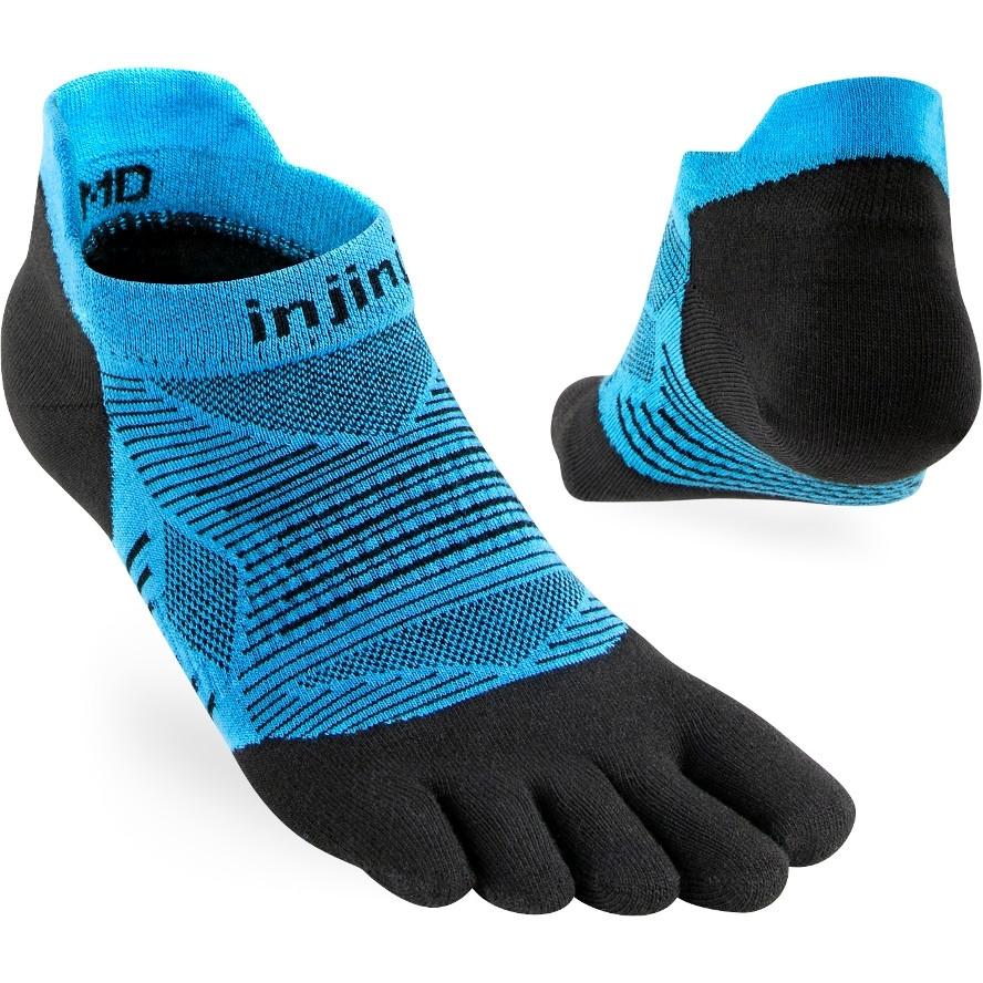 Injinji Run Lightweight No-Show Coolmax Socken - malibu