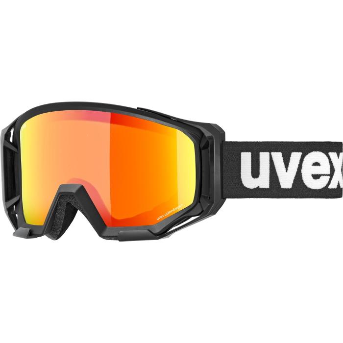 Uvex athletic CV black mat - mirror orange/colorvision orange (cat. 2) Brille