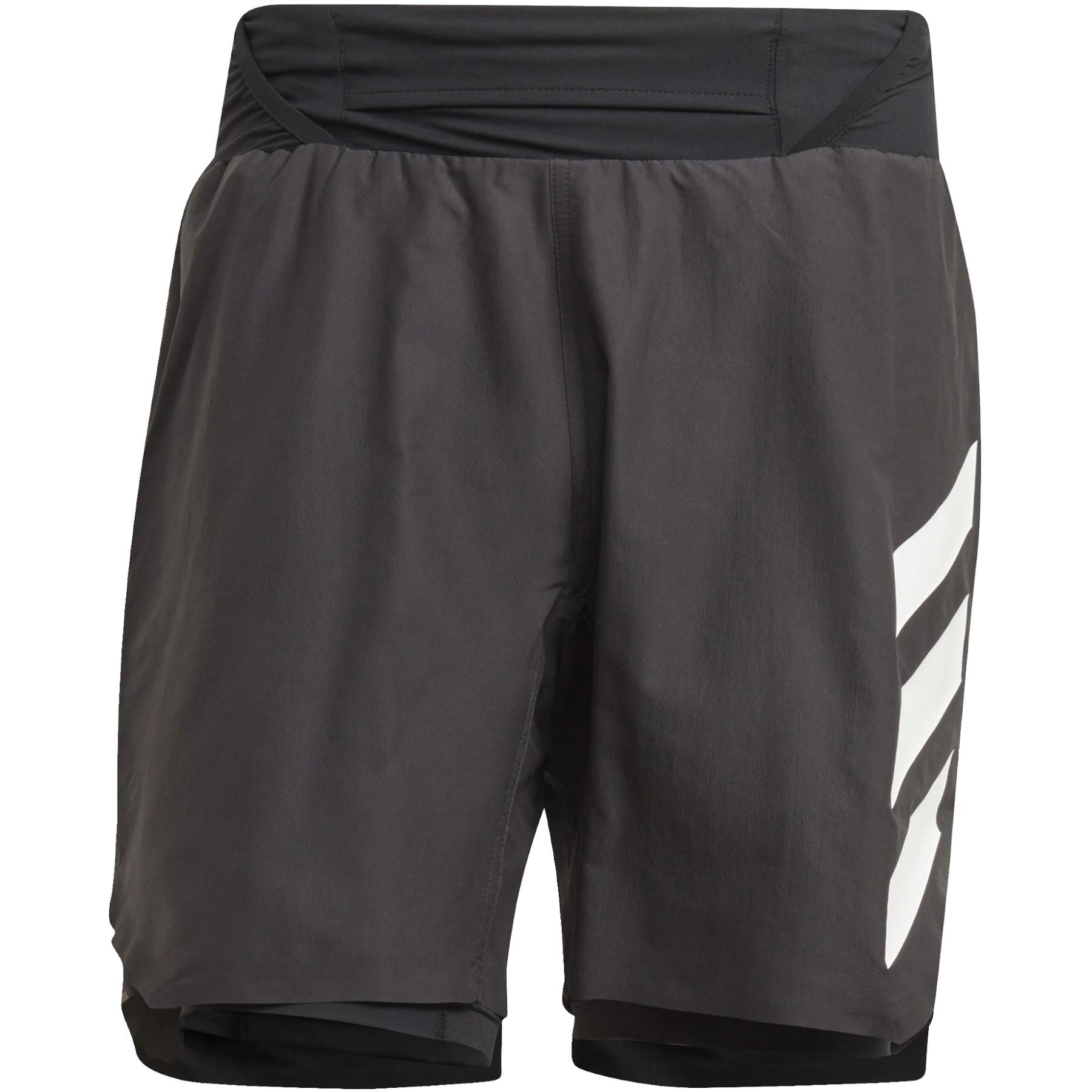 adidas Men's TERREX Agravic Two-In-One Shorts - black/white GL1216